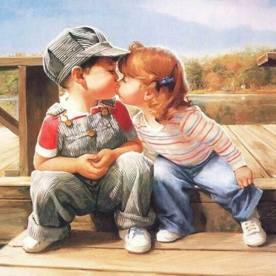 Boy And Girl Kissing- Full Drill Diamond Painting - Specially ordered for you. Delivery is approximately 4 - 6 weeks.