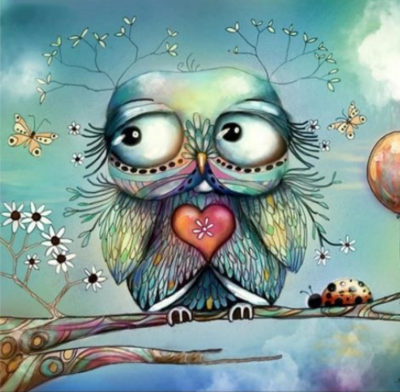 Cartoon Owl 03- Full Drill Diamond Painting - Specially ordered for you. Delivery is approximately 4 - 6 weeks.