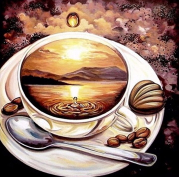 Coffee 05- Full Drill Diamond Painting - Specially ordered for you. Delivery is approximately 4 - 6 weeks.