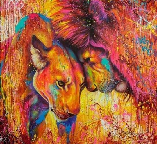 Colourful Animals 11 - Full Drill Diamond Painting - Specially ordered for you. Delivery is approximately 4 - 6 weeks.