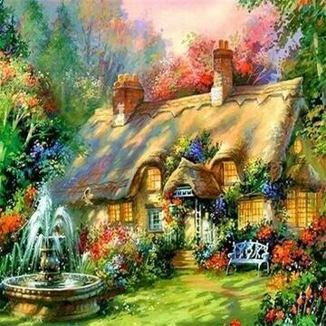 Cottage 2 - Full Drill Diamond Painting - Specially ordered for you. Delivery is approximately 4 - 6 weeks.