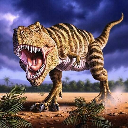 Dinosaur  - Full Drill Diamond Painting - Specially ordered for you. Delivery is approximately 4 - 6 weeks.