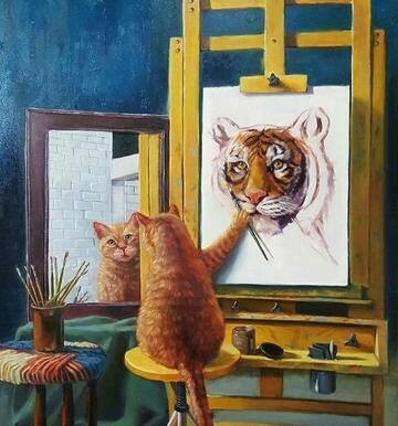 Cat Painting- Full Drill Diamond Painting - Specially ordered for you. Delivery is approximately 4 - 6 weeks.