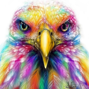 Colourful Eagle  - Full Drill Diamond Painting - Specially ordered for you. Delivery is approximately 4 - 6 weeks.