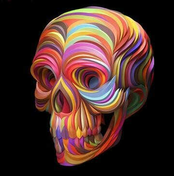 Coloured Ribbon Skull - Full Drill Diamond Painting - Specially ordered for you. Delivery is approximately 4 - 6 weeks.
