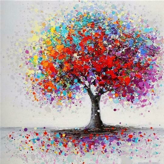 Colourful Tree - Full Drill Diamond Painting - Specially ordered for you. Delivery is approximately 4 - 6 weeks.