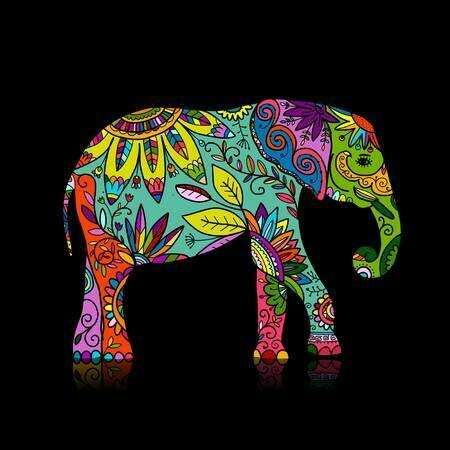 Colourful Elephant 01 - Full Drill Diamond Painting - Specially ordered for you. Delivery is approximately 4 - 6 weeks.
