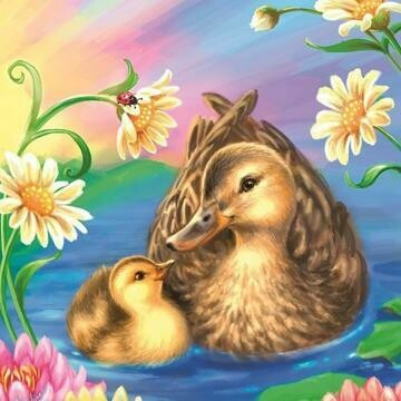 Cute Ducks- Full Drill Diamond Painting - Specially ordered for you. Delivery is approximately 4 - 6 weeks.