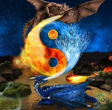 Dragon Ice And Fire - Full Drill Diamond Painting - Specially ordered for you. Delivery is approximately 4 - 6 weeks.