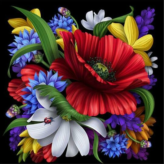Flower Bouquet - Full Drill Diamond Painting - Specially ordered for you. Delivery is approximately 4 - 6 weeks.
