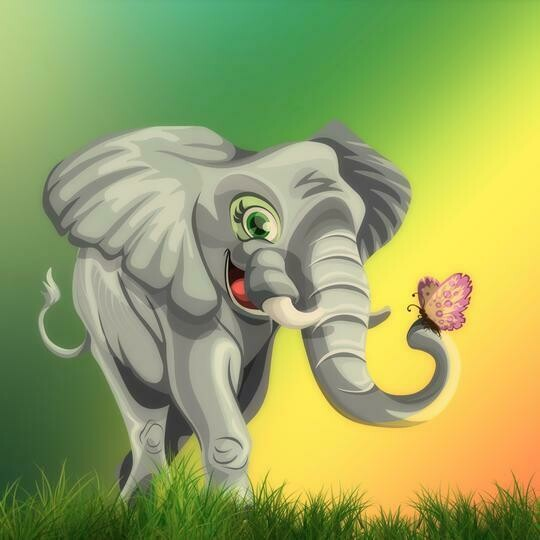 Elephant 07 - Full Drill Diamond Painting - Specially ordered for you. Delivery is approximately 4 - 6 weeks.