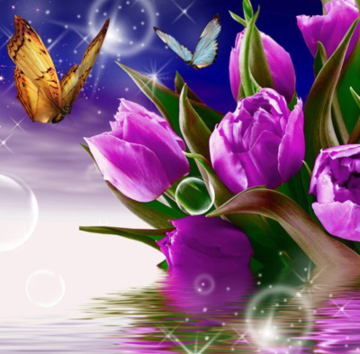 Flowers and Butterflies 09 - Full Drill Diamond Painting - Specially ordered for you. Delivery is approximately 4 - 6 weeks.