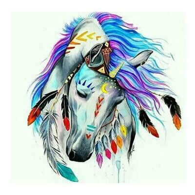 Fanciful Horse Head - Full Drill Diamond Painting - Specially ordered for you. Delivery is approximately 4 - 6 weeks.