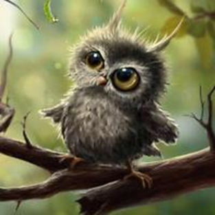 Little Owl  - Full Drill Diamond Painting - Specially ordered for you. Delivery is approximately 4 - 6 weeks.