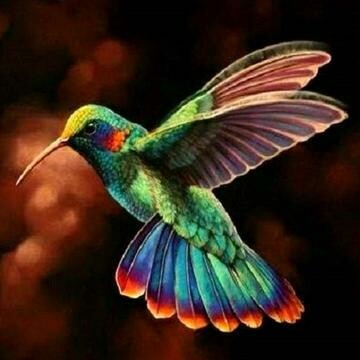 Hummingbird 3 - Full Drill Diamond Painting - Specially ordered for you. Delivery is approximately 4 - 6 weeks.