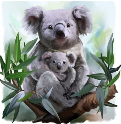Koalas 05 - Full Drill Diamond Painting - Specially ordered for you. Delivery is approximately 4 - 6 weeks.
