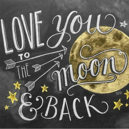 Love You To The Moon And Back - Full Drill Diamond Painting - Specially ordered for you. Delivery is approximately 4 - 6 weeks.