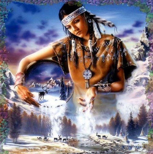 Native American Girl - Full Drill Diamond Painting - Specially ordered for you. Delivery is approximately 4 - 6 weeks.