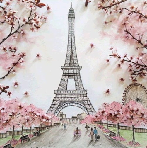 Paris 02 - Full Drill Diamond Painting - Specially ordered for you. Delivery is approximately 4 - 6 weeks.