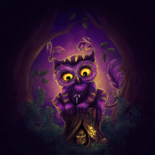 Purple Owl - Full Drill Diamond Painting - Specially ordered for you. Delivery is approximately 4 - 6 weeks.