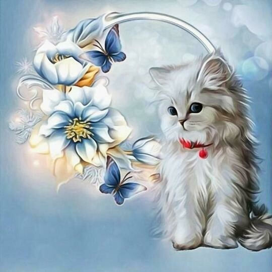 Pretty Kitten - Full Drill Diamond Painting - Specially ordered for you. Delivery is approximately 4 - 6 weeks.