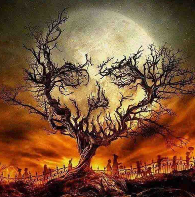 Skull Tree - Full Drill Diamond Painting - Specially ordered for you. Delivery is approximately 4 - 6 weeks.