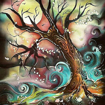 Swirly Tree - Full Drill Diamond Painting - Specially ordered for you. Delivery is approximately 4 - 6 weeks.