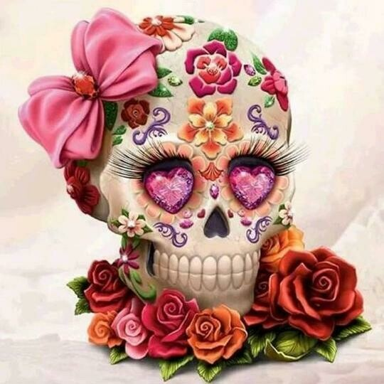 Skull And Roses - Full Drill Diamond Painting - Specially ordered for you. Delivery is approximately 4 - 6 weeks.