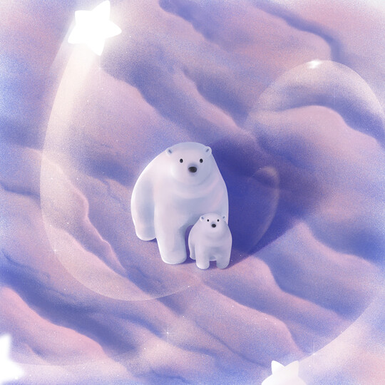 Star Polar Bears - Full Drill Diamond Painting - Specially ordered for you. Delivery is approximately 4 - 6 weeks.