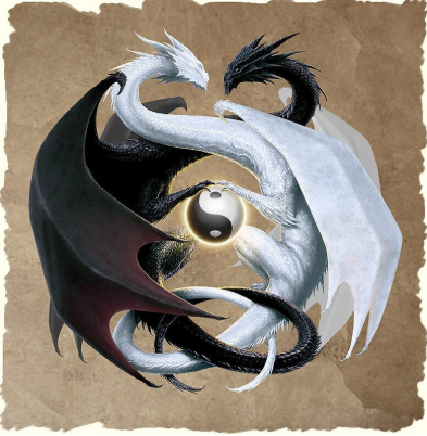 Ying And Yang Dragons - Full Drill Diamond Painting - Specially ordered for you. Delivery is approximately 4 - 6 weeks.