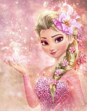 Pink Princess - 30 x 40cm Full Drill (Round) Diamond Painting Kit - Currently in stock