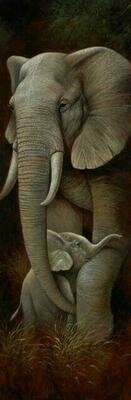 Wild Mothers Elephant - 30 x 75cm - Full Drill (Round), Diamond Painting Kit - Currently in stock