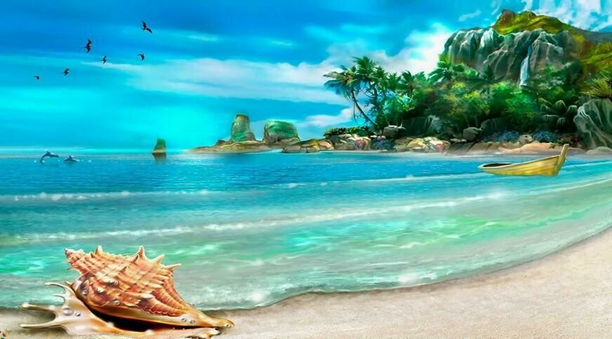 Beautiful Beach - 80 x 120cm Full Drill (Square) Diamond Painting Kit - Currently in stock