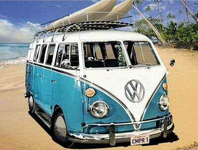 Kombi Blue - 30 x 40cm Full Drill (Round) Diamond Painting Kit - Currently in stock