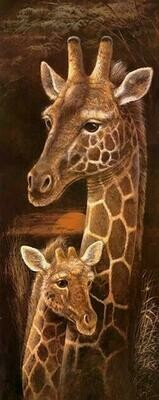Wild Mothers Giraffe - 30 x 75cm - Full Drill (Round), Diamond Painting Kit - Currently in stock