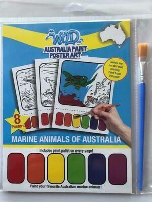 Australia Paint Poster Art - Australian Marine Mammals