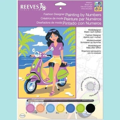 Reeves Painting by Numbers - Beach Girl