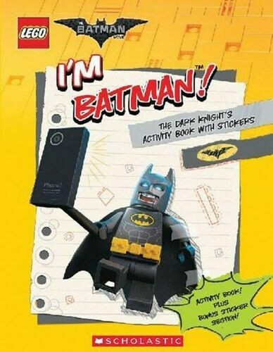 I'm Batman! The Dark Knight's Activity Book with Stickers