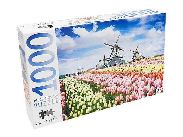 JIGSAW PUZZLE - WINDMILLS - MINDBOG.1000 PCS- Jigsaw Size: 690mm x 546mm