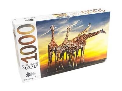 JIGSAW PUZZLE - GIRAFFE - MINDBOG.1000 PCS- Jigsaw Size: 690mm x 546mm