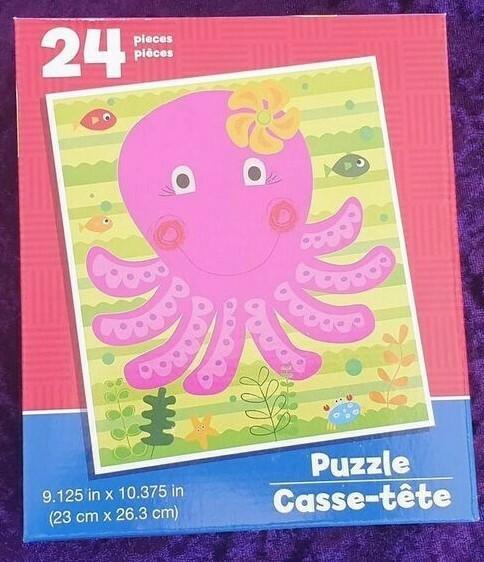 24 Piece Kids Puzzle - Octopus