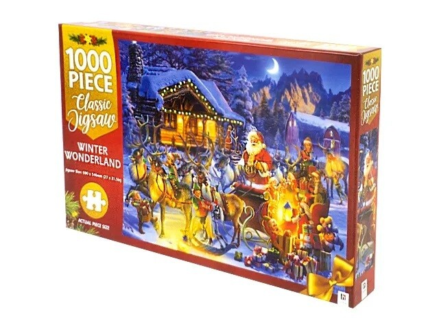 JIGSAW PUZZLE - WINTER WONDERLAND - MINDBOG.1000 PCS- Jigsaw Size: 690mm x 546mm
