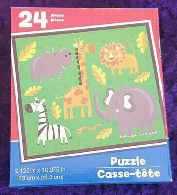 24 Piece Kids Puzzle Zoo Animals