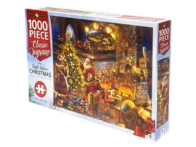 JIGSAW PUZZLE - NIGHT BEFORE CHRISTMAS - MINDBOG.1000 PCS- Jigsaw Size: 690mm x 546mm