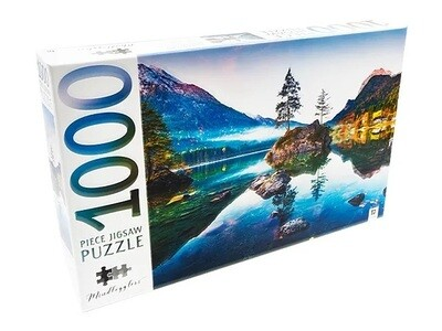 JIGSAW PUZZLE - HINTERSEE LAKE - MINDBOG.1000 PCS- Jigsaw Size: 690mm x 546mm