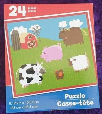 24 Piece Kids Puzzle - Farm Animals