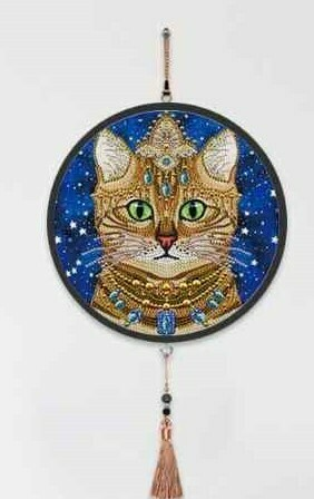 Wall Hanging Diamond Painting with Frame - Cat