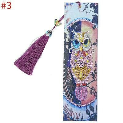 Diamond Painting Bookmark - OWL (delivery 4 - 6 weeks)