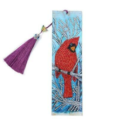 Diamond Painting Bookmark - Bird (delivery 4 - 6 weeks)