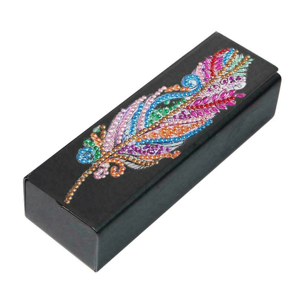 Diamond Painting  Glasses Case - Feather